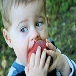 1098258_little_boy_eating_a_peach__1