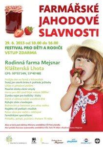 Farmářské jahodové slavnosti - plakát (kliknutím zvětšit)
