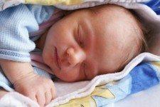 Sárinka v den narození